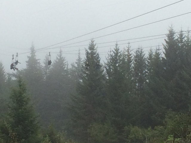 Longest and Highest Zipline in North America is at Icy Strait Poin,t Alaska