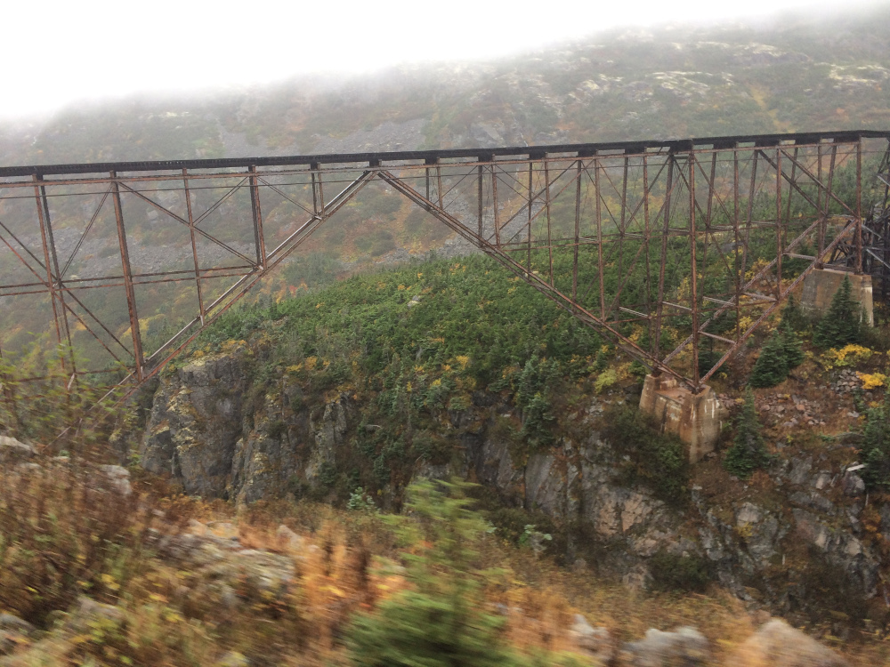 Train trestle along the White Pass and Yukon Route