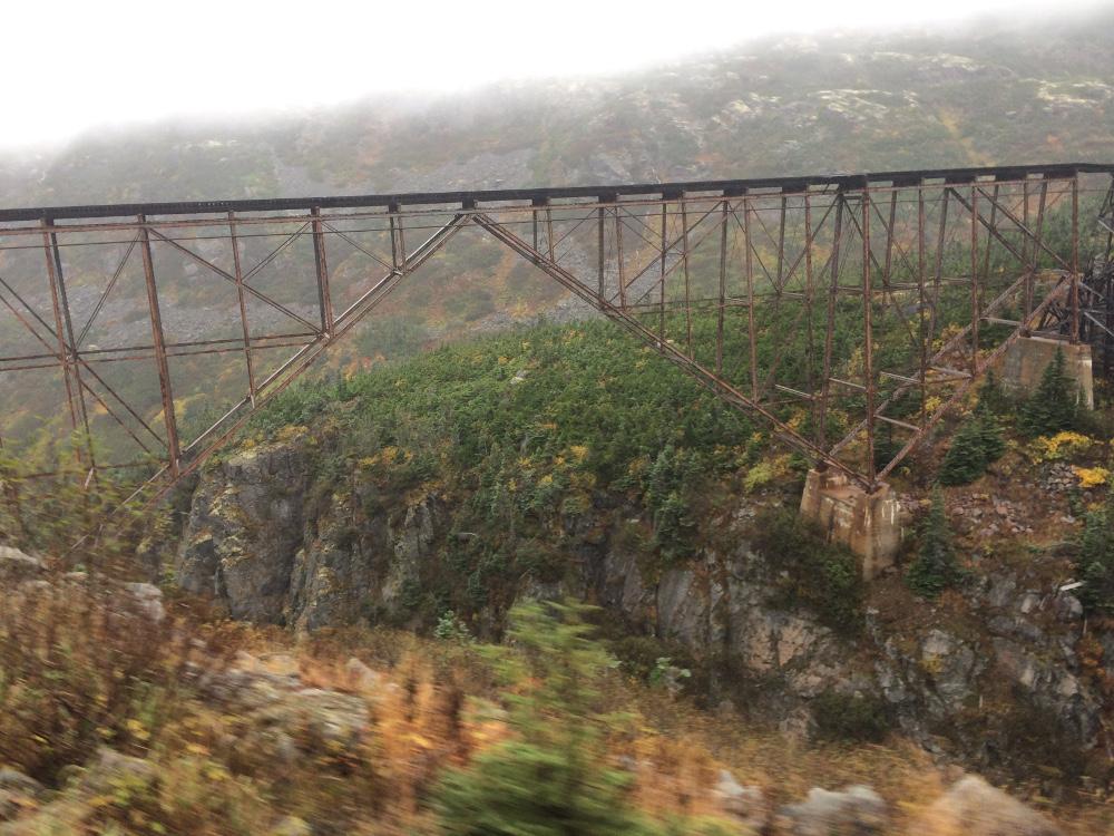 Train trestle along the White Pass and Yukon Route