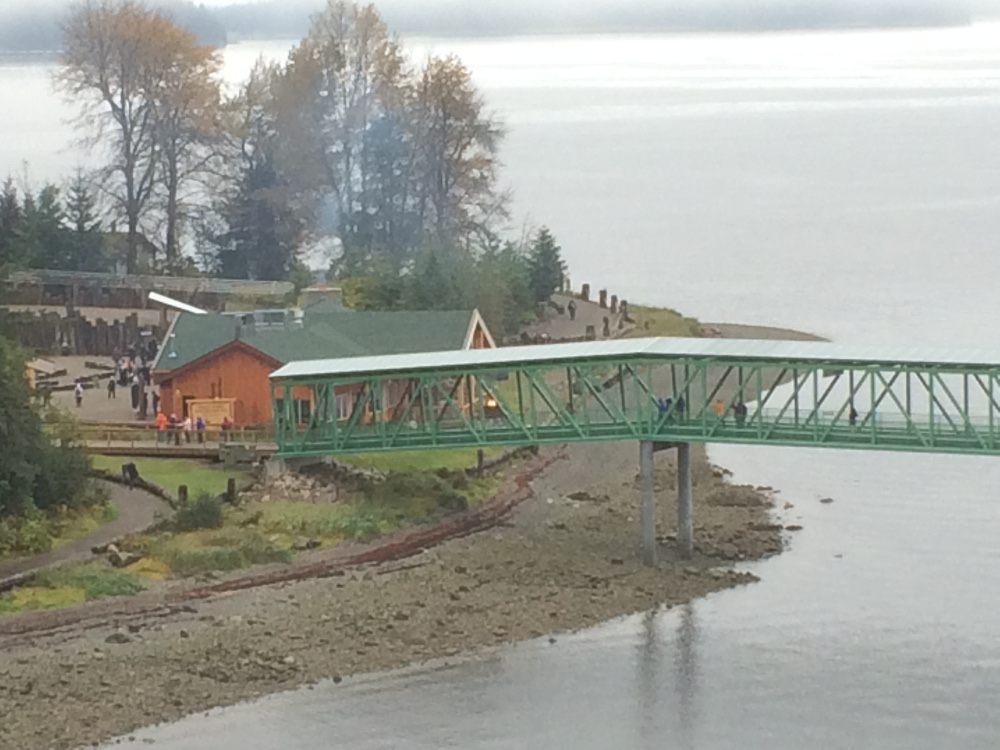 The new pier at Icy Strait Point