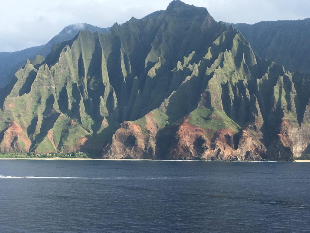 Sailing Norwegian's Pride of America along the Na Pali Coast