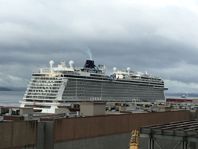 NCL Joy docked in Seattle